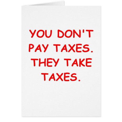 taxes cards
