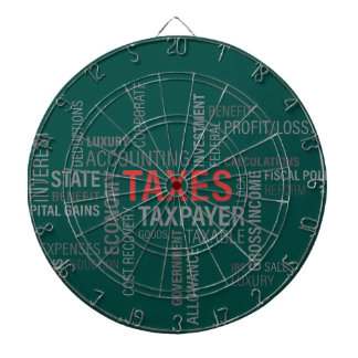 """Taxes"" Dartboard"