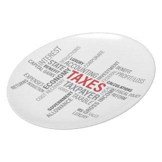 """""""Taxes"""" Dinner Plate"""