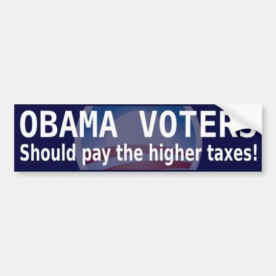 Taxes for Obama Voters bumper sticker