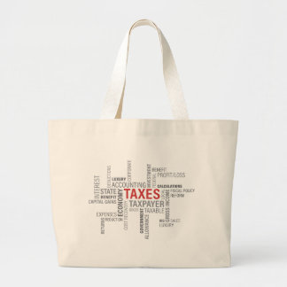 """Taxes"" Large Tote Bag"