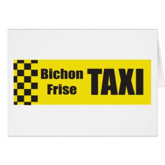 Taxi Bichon Frise Card