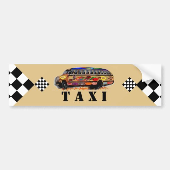 Taxi Bumper Sticker