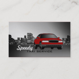 Taxi Cab Business Cards Car Colour Changeable