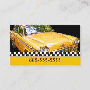 TAXI CAB CHECKERED CABS BUSINESS CARD