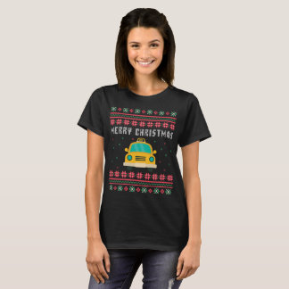 Taxi Cab Ugly Christmas Sweater