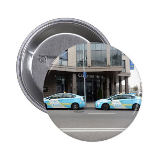Taxi Cabs in Vilnius Lithuania 2 Inch Round Button