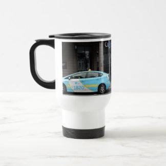 Taxi Cabs in Vilnius Lithuania Travel Mug