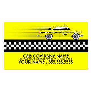 taxi cartes de visite professionnelles