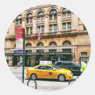 Taxi! Classic Round Sticker