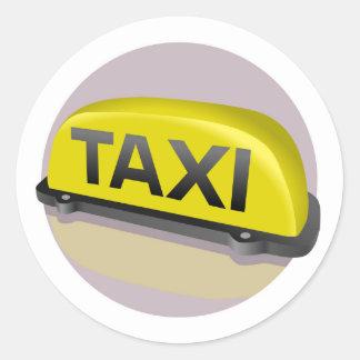 taxi classic round sticker
