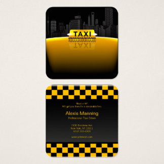 taxi driver business card