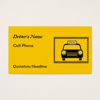 Taxi Driver Checkerboard Business Cards