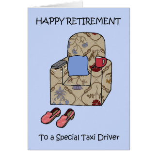 Taxi Driver Happy Retirement. Card
