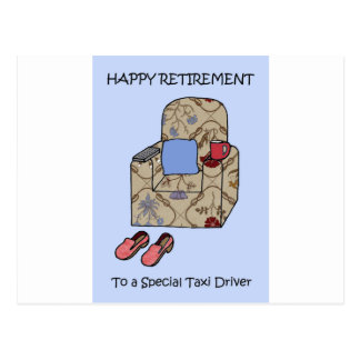 Taxi Driver Happy Retirement. Postcard