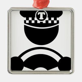 Taxi Driver Metal Ornament