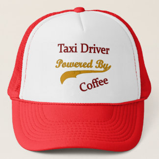 Taxi Driver Powered By Coffee Trucker Hat