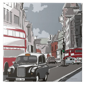 Taxi in London Tiles