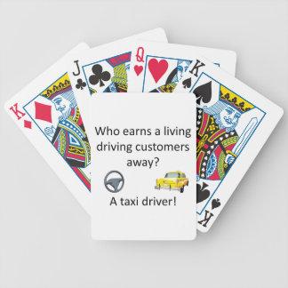 Taxi Joke Bicycle Playing Cards