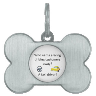 Taxi Joke Pet ID Tag