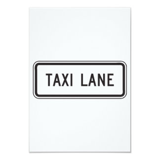 Taxi Lane Sign Invitations