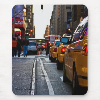 Taxi Line-up in NYC, Photo By: Joe Dantone Mouse Pad