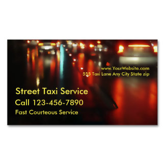 Taxi Magnetic Business Card