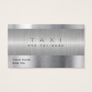 Taxi Metal A Business Card