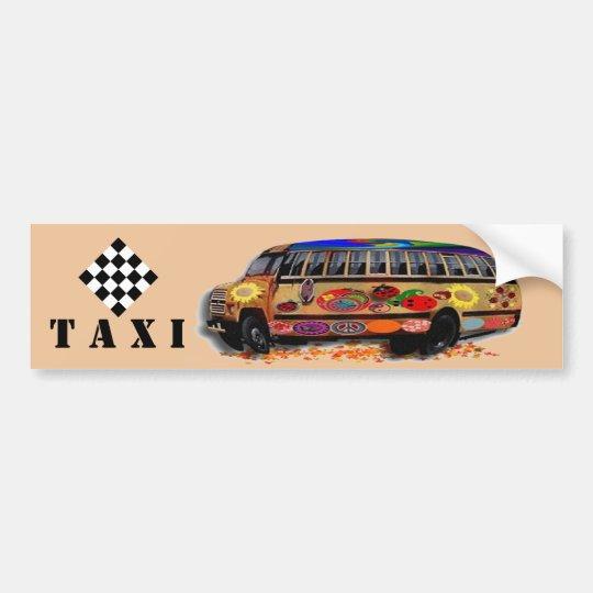 Taxi minibus Ladybug Bumper Sticker