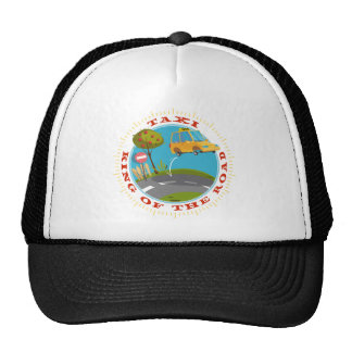 Taxi more driver comic king OF the road Trucker Hat