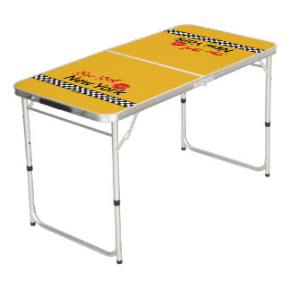 Taxi New York & Red KIS Beer Pong Table