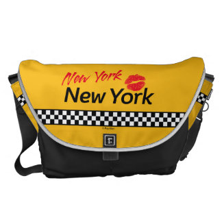 Taxi New York & Red KIS Courier Bag