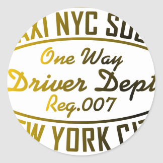 taxi nyc soul urban graphic round sticker