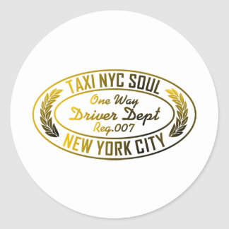 taxi nyc soul urban graphic round stickers