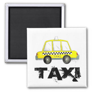 Taxi NYC Yellow New York City Checkered Cab Car Magnet