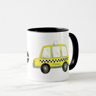Taxi NYC Yellow New York City Checkered Cab Car Mug