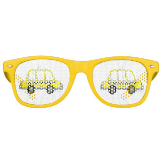Taxi NYC Yellow New York City Checkered Cab Car Retro Sunglasses