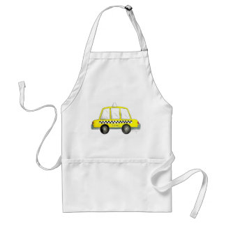 Taxi NYC Yellow New York City Checkered Cab Car Standard Apron