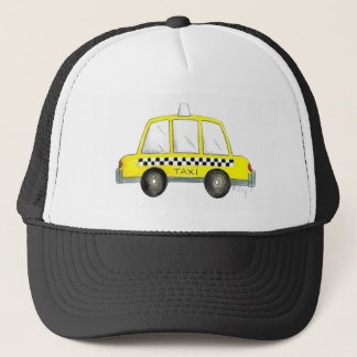 Taxi NYC Yellow New York City Checkered Cab Car Trucker Hat