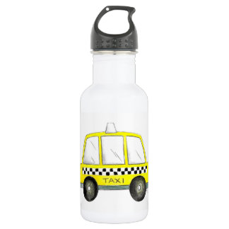 Taxi NYC Yellow New York City Checkered Cab Gift 532 Ml Water Bottle