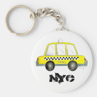 Taxi NYC Yellow New York City Checkered Cab Gift Keychain