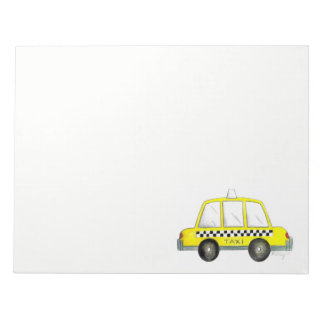 Taxi NYC Yellow New York City Checkered Cab Gift Notepad