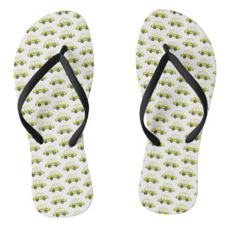 Taxi NYC Yellow New York City Checkered Cab Print Flip Flops