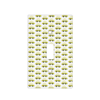 Taxi NYC Yellow New York City Checkered Cab Print Light Switch Cover
