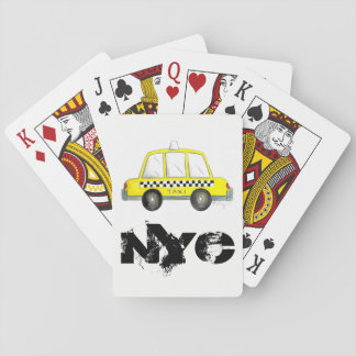 Taxi NYC Yellow New York City Checkered Cab Print Playing Cards