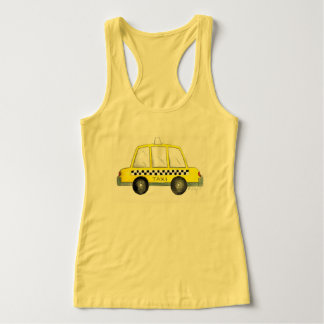 Taxi NYC Yellow New York City Checkered Cab Print Tank Top