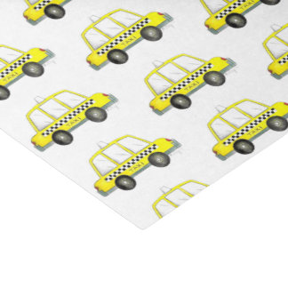 Taxi NYC Yellow New York City Checkered Cab Print Tissue Paper
