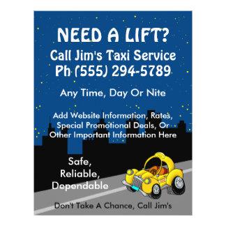 Taxi Service Custom Flyer