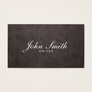 Taxi Service Elegant Leather Professional Driver Business Card