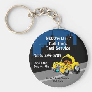 Taxi Service Keychain